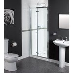 aqualux shine porte pliante 90x185cm chrome