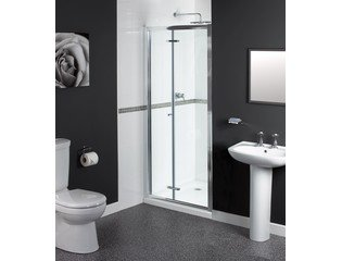 Aqualux Shine Porte pliante 90x185cm chrome HA1160417