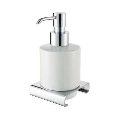 Haceka Dude Distributeur savon blanc chrome