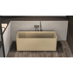 ideavit solidthin vrijstaand bad 160x70cm solid surface mat lichtbeige
