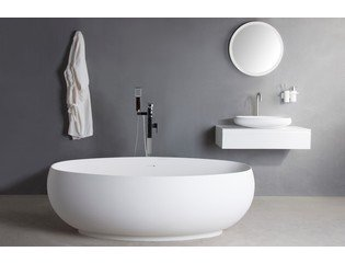 Ideavit Solidego Vrijstaand bad 170x95cm ovaal Solid surface wit SW85884