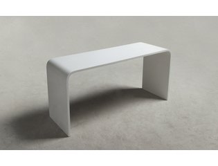 Ideavit Solidtondo Table 90x30x43cm Solid surface blanc mat