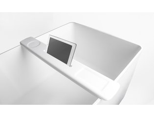 Ideavit Solidfelix Ipadhouder voor bad 77x12x2.4cm Solid surface mat wit SW97007