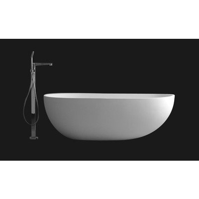 Ideavit Solidsurf Vrijstaand bad 170x88cm ovaal Solid surface wit