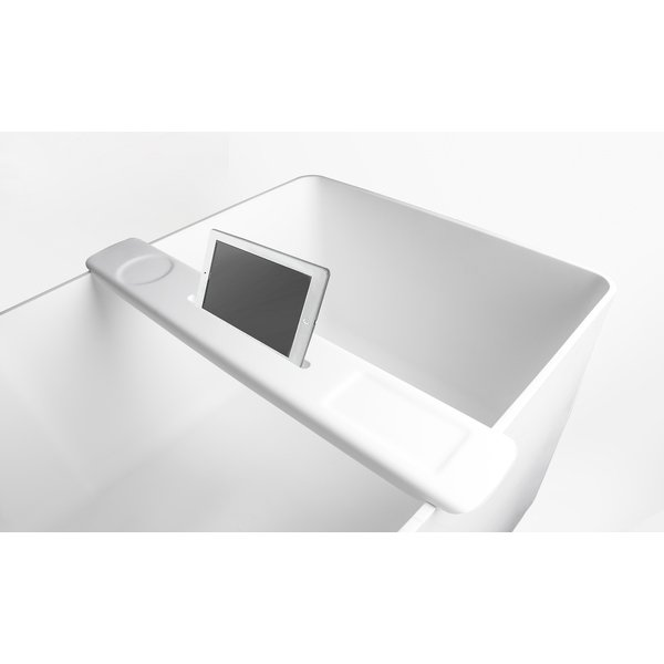 Ideavit Solidfelix Ipadhouder voor bad 77x12x2.4cm Solid surface mat wit 290100