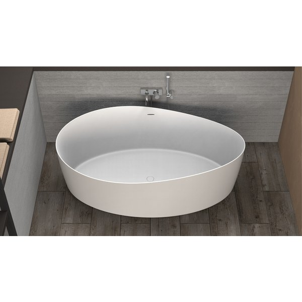 Ideavit Solidharmony vrijstaand bad 175x100cm Solid surface mat wit 290113