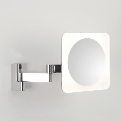 Astro Niimi Square LED Miroir grossissant mural 5.7W 3950K chrome 23x27.5cm IP44 zinc A