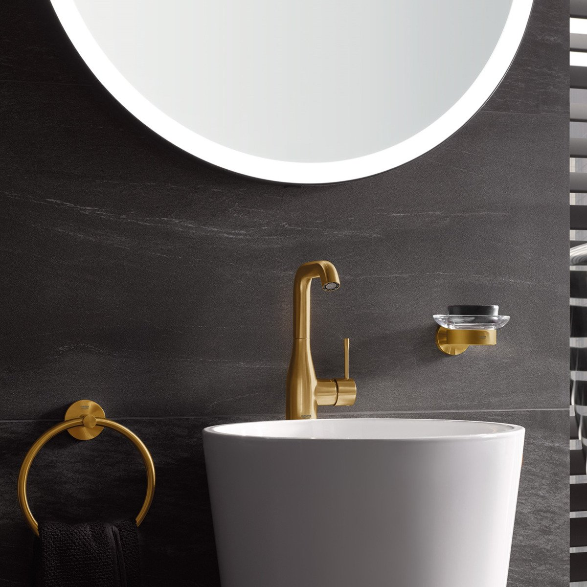 grohe essence new robinet lavabo taille l avec haut bec. Black Bedroom Furniture Sets. Home Design Ideas