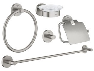 Grohe Essentials accessoireset 5 in 1 supersteel SW97654