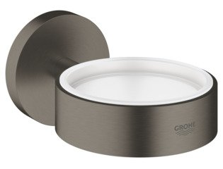 Grohe Essentials glas-/zeephouder z. glasdeel brushed hard graphite SW98929