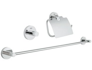 Grohe Essentials accessoireset 3 in 1 chroom 0438151