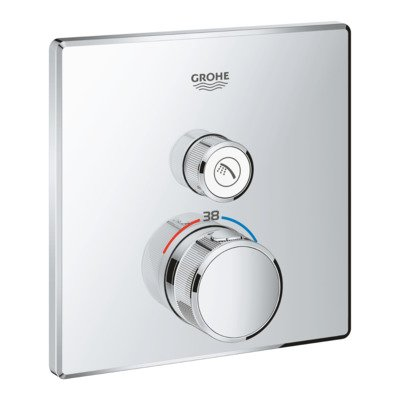Grohe SmartControl afbouwdeel voor inbouwkraan thermostatisch vierkant chroom