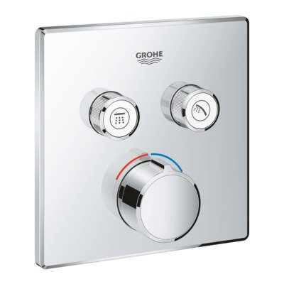 Grohe SmartControl afbouwdeel voor inbouwkraan met omstel v. 2 functies vierkant chroom