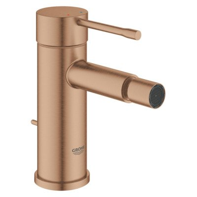 Grohe Essence New bidetkraan S-size met waste brushed warm sunset