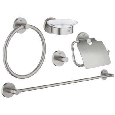 Grohe Essentials accessoireset 5 in 1 supersteel