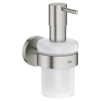 Grohe Essentials zeepdispenser met houder supersteel