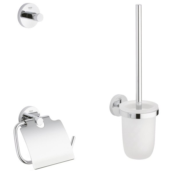 Grohe Essentials accessoireset 3 in 1 chroom 0438150