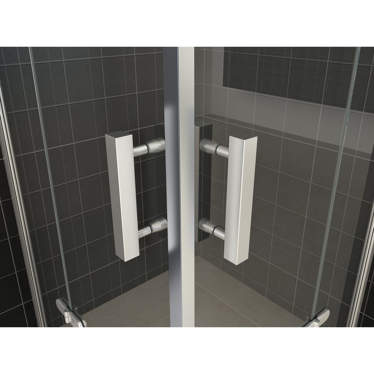 praya cabine de douche acc s d 39 angle 90x90x200cm 2 portes pivotantes profil chrome et vitre nano. Black Bedroom Furniture Sets. Home Design Ideas