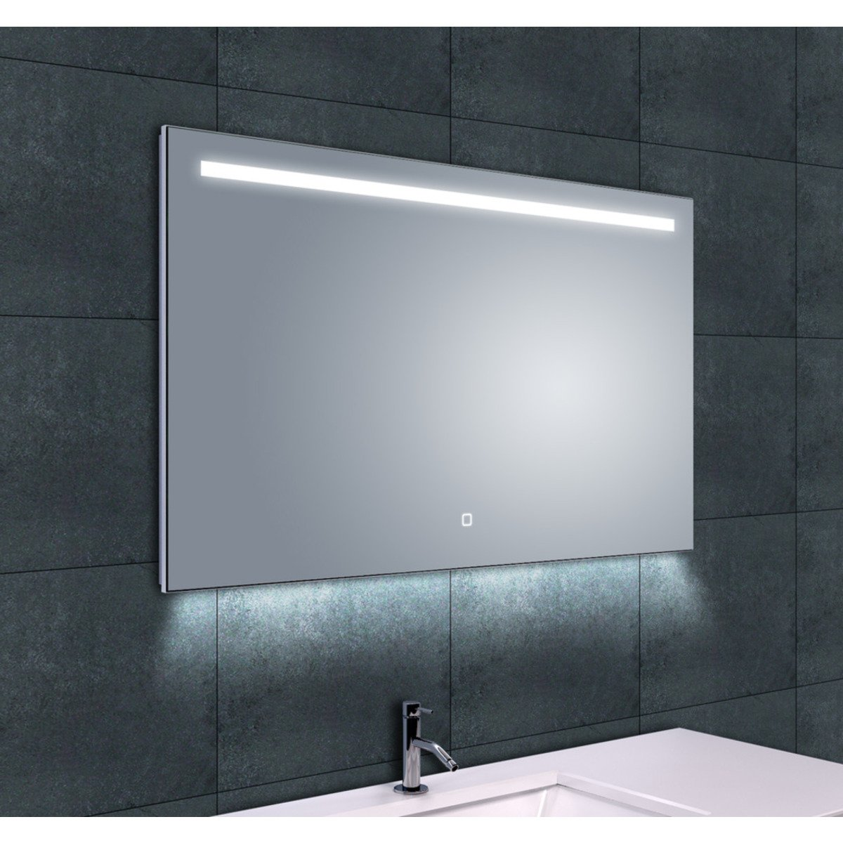wiesbaden ambi one miroir avec led intensit r glable anti. Black Bedroom Furniture Sets. Home Design Ideas
