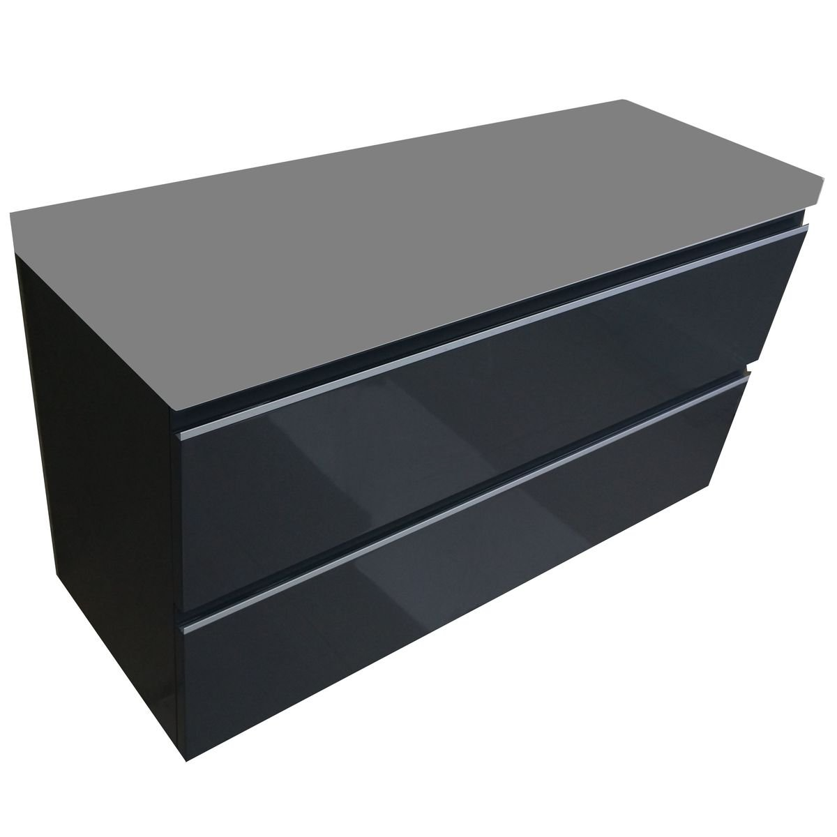 praya wiesbaden meuble sous lavabo 100x36cm sans lavabo gris brillant. Black Bedroom Furniture Sets. Home Design Ideas