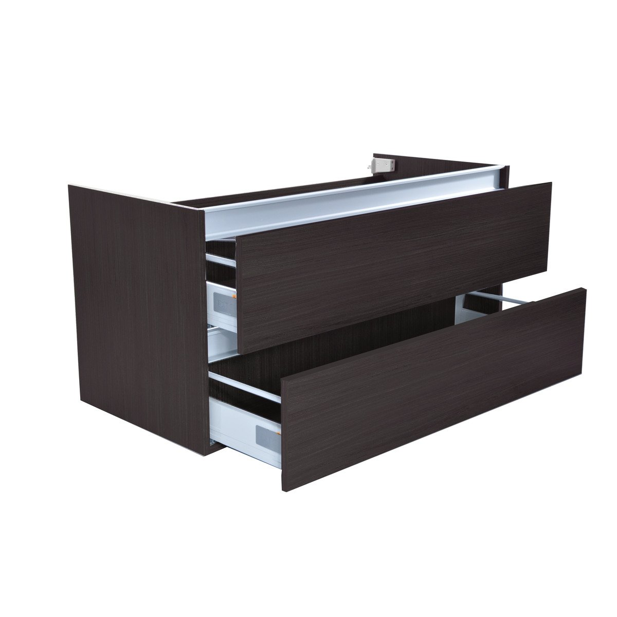praya vision meuble sous lavabo 2 tiroirs 100x47cm bois nervur gris. Black Bedroom Furniture Sets. Home Design Ideas