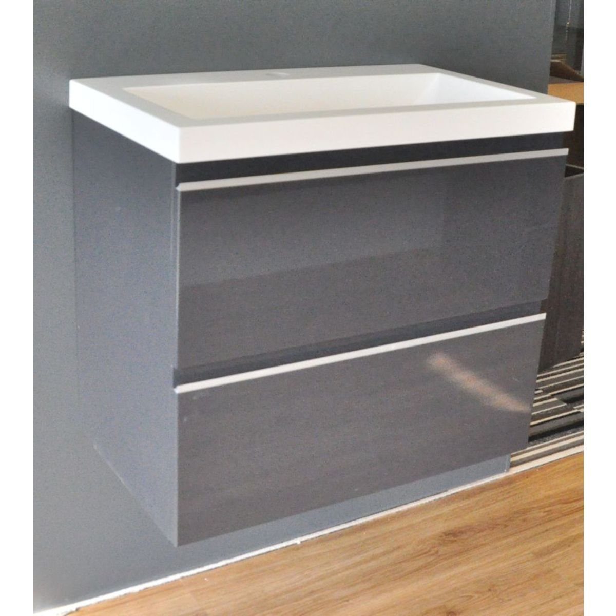 praya wiesbaden meuble sous lavabo 60x36cm sans lavabo gris brillant. Black Bedroom Furniture Sets. Home Design Ideas