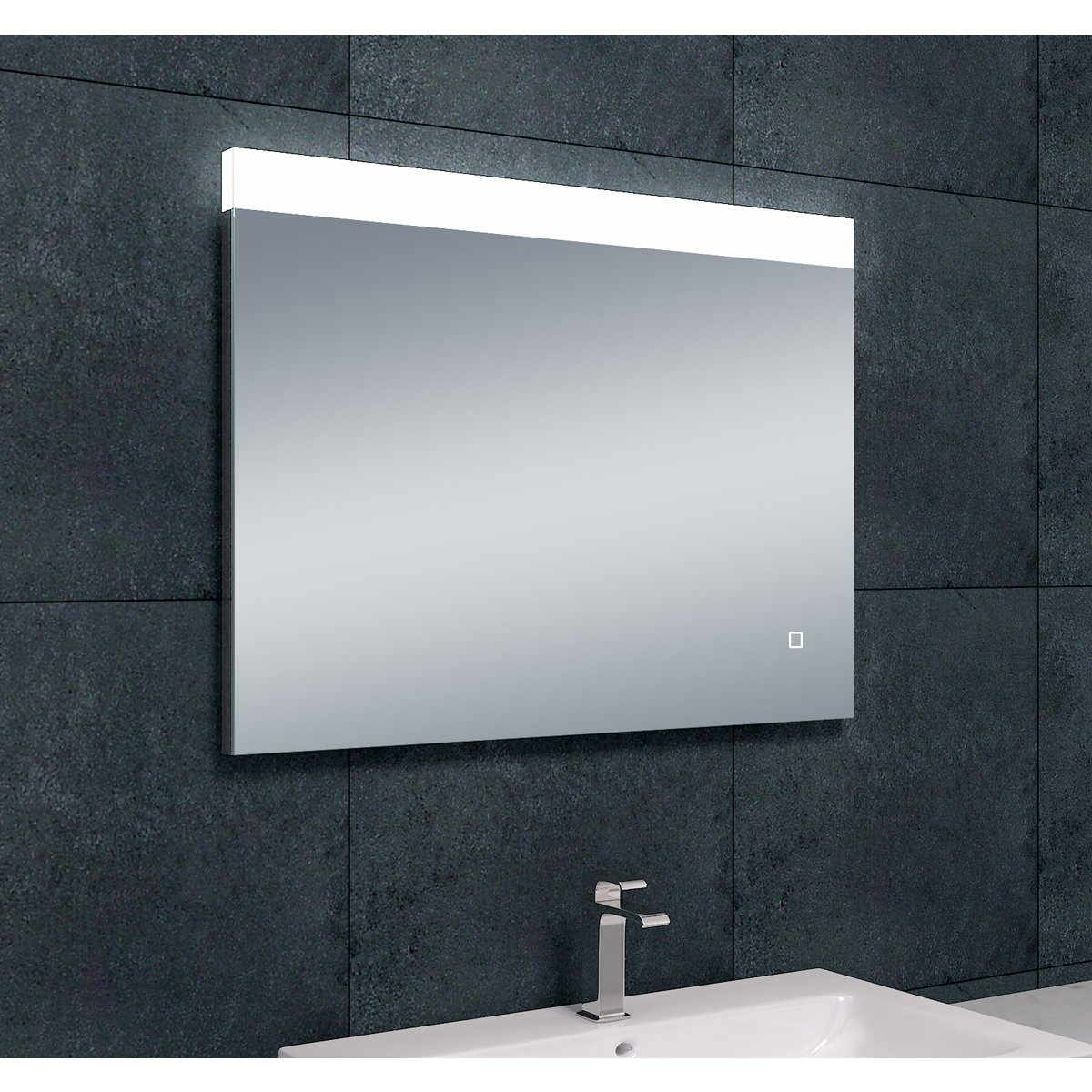 wiesbaden single miroir antibu e avec led intensit. Black Bedroom Furniture Sets. Home Design Ideas