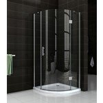 praya shower douchecabine 90x90x200cm kwartrond chroom 8 mm glas rechtsscharnierend