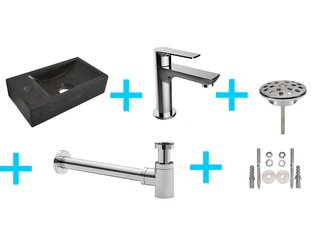 Praya Wiesbaden One Pack HS Lavabo WC gauche avec Casma chrome SW95745