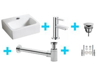 Praya One Pack Wiesbaden one-pack Leto fontein met Amador toiletkraan chroom SW95743