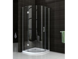 Wiesbaden Sphere Shower douchecabine 90x90x200cm kwartrond chroom 8mm glas linksscharnierend NANO coating SW10428