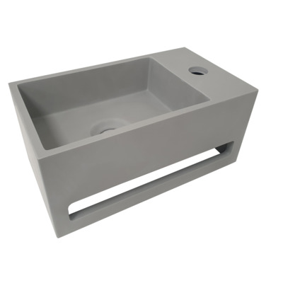 Wiesbaden Julia Lave-main 35x20x16cm droite Solid Surface look béton
