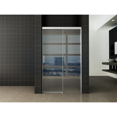 Wiesbaden Softclose 2.0 douchedeur 1400x2000 chroom profiel 8mm glasdikte NANO