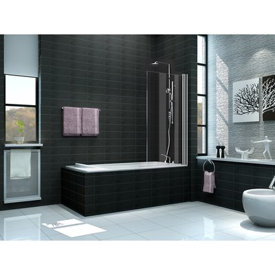Wiesbaden Bedge Bath Badwand 80x150cm 6mm dik NANO coating glas chroom