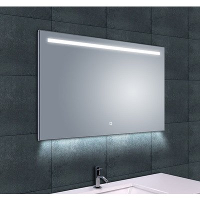Wiesbaden Ambi One dimbare Led condensvrije spiegel 100x60cm OUTLET