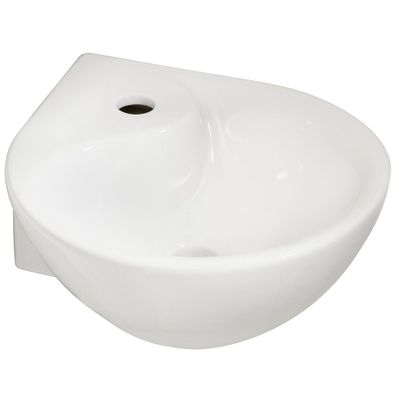 Wiesbaden Porta Lave mains d'angle 35x35x14.5cm Blanc
