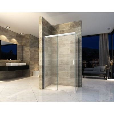 Wiesbaden Softclose douchecabine softclose 120x100x200cm chroom 8mm glas met NANO coating