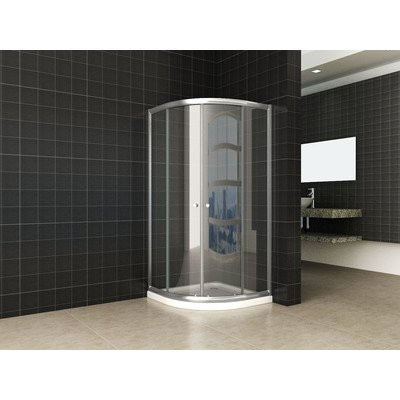 Wiesbaden eco kwartronde douchecabine 5mm 80x80x190cm helder glas OUTLET