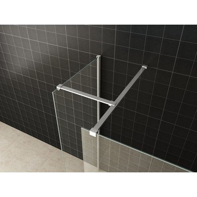 Praya inloopdouche combinatie set 130x90x200cm 10mm glas nano coating