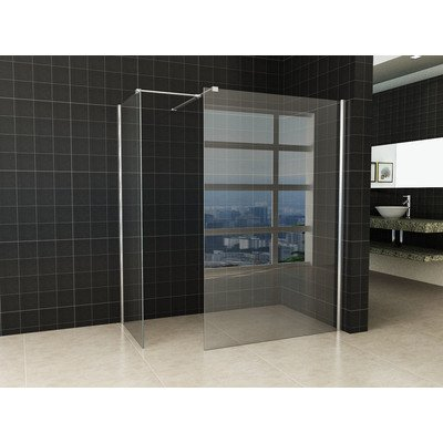 Praya inloopdouche combinatie set 130x80x200cm 10mm glas nano coating