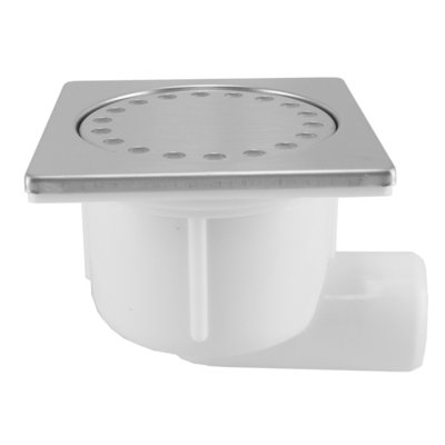 Wiesbaden Shower Doucheplug 10x10cm zijuitlaat RVS