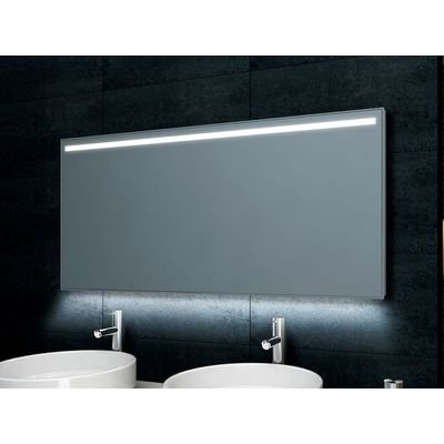 Wiesbaden Ambi Miroir antibuée avec LED à intensité variable 120x60cm
