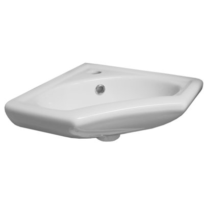 Wiesbaden Trevi Lave mains d'angle 35x35cm Blanc