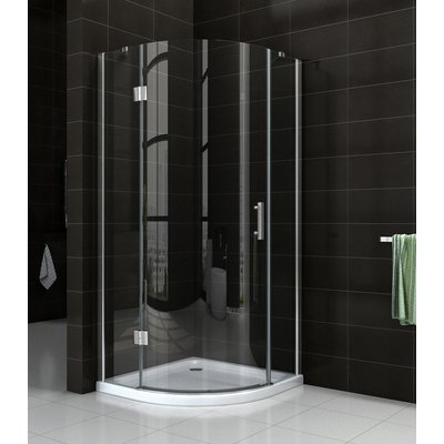 Wiesbaden Sphere Shower douchecabine 90x90x200cm kwartrond chroom 8mm glas linksscharnierend NANO coating