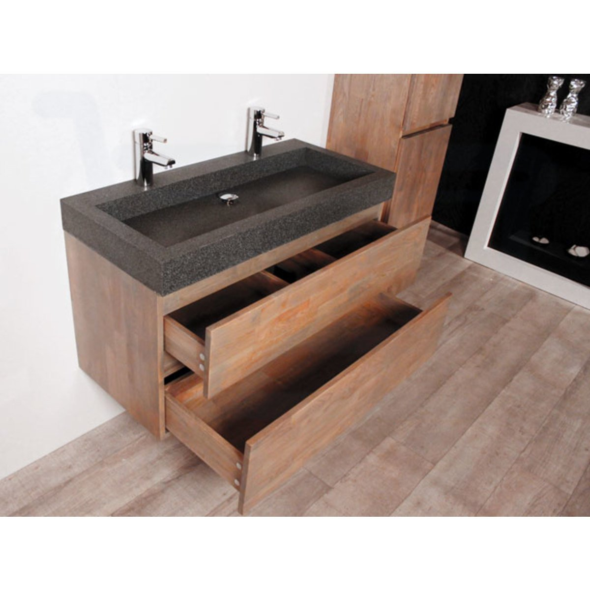 Best meuble double vasque 100 cm gallery awesome for Meuble 2 vasques 110 cm