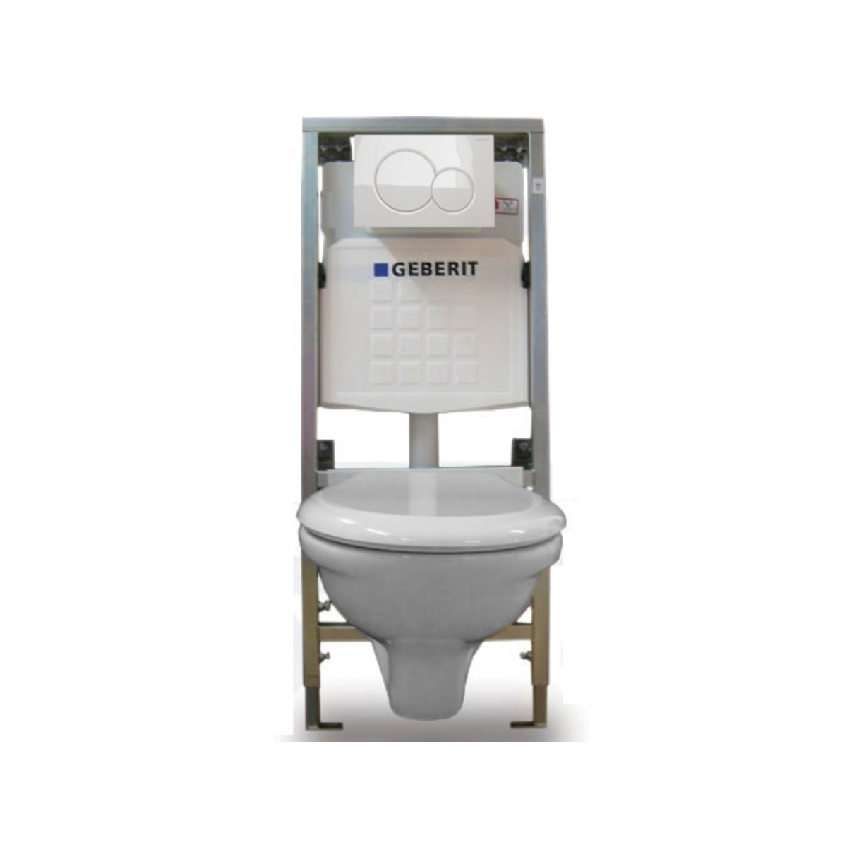 Plieger brussel toilet set met geberit inbouwreservoir for Geberit products