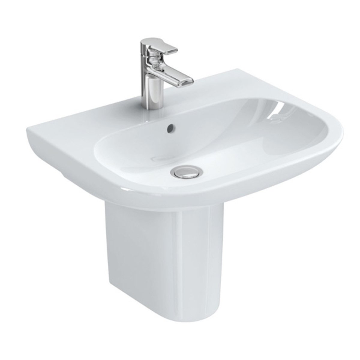 Ideal standard softmood lavabo blanc t055401 for Largeur lavabo standard