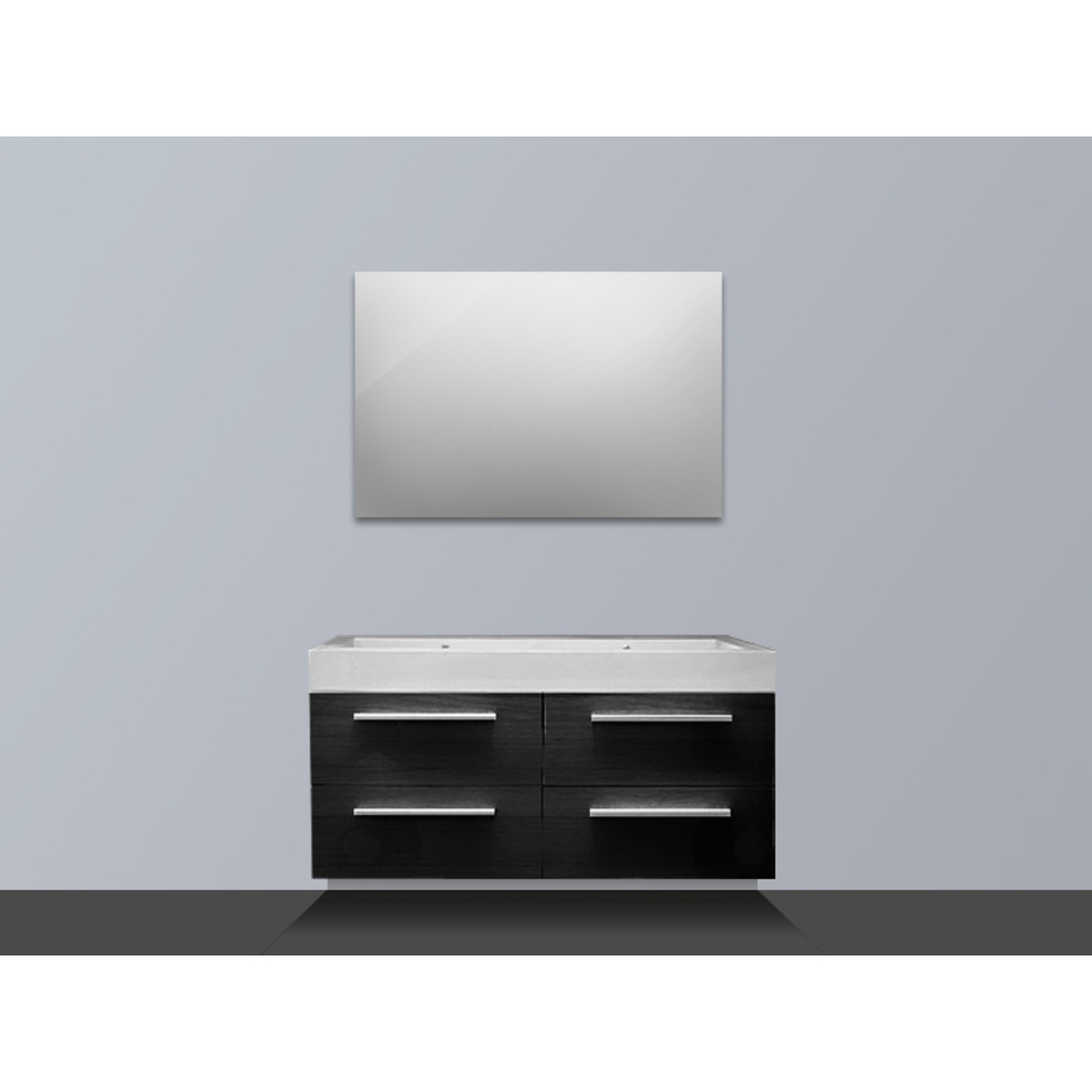 saniclass florence meuble salle de bain avec miroir black diamond sw7036. Black Bedroom Furniture Sets. Home Design Ideas