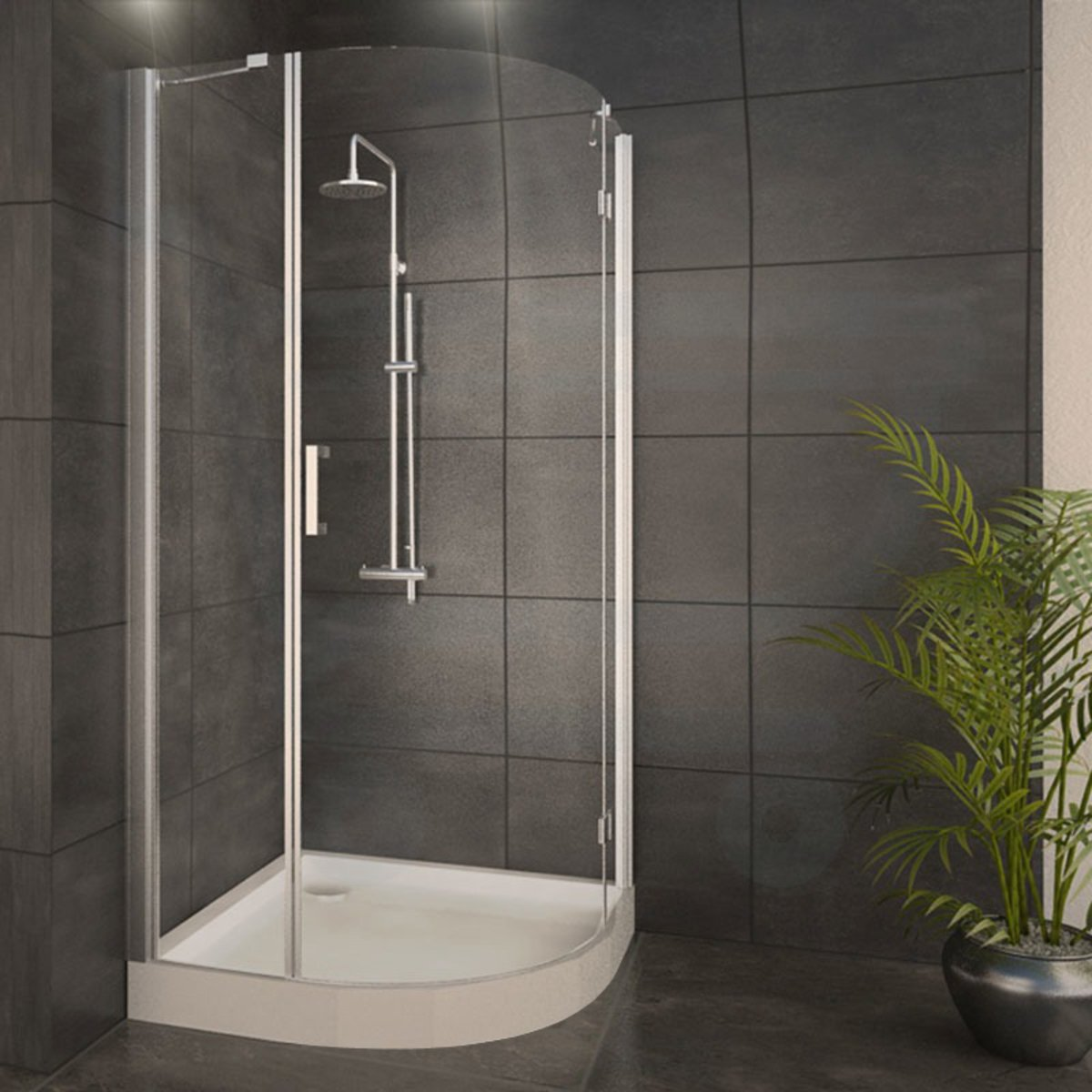 adema glass cabine de douche quart de rond avec 1 porte. Black Bedroom Furniture Sets. Home Design Ideas