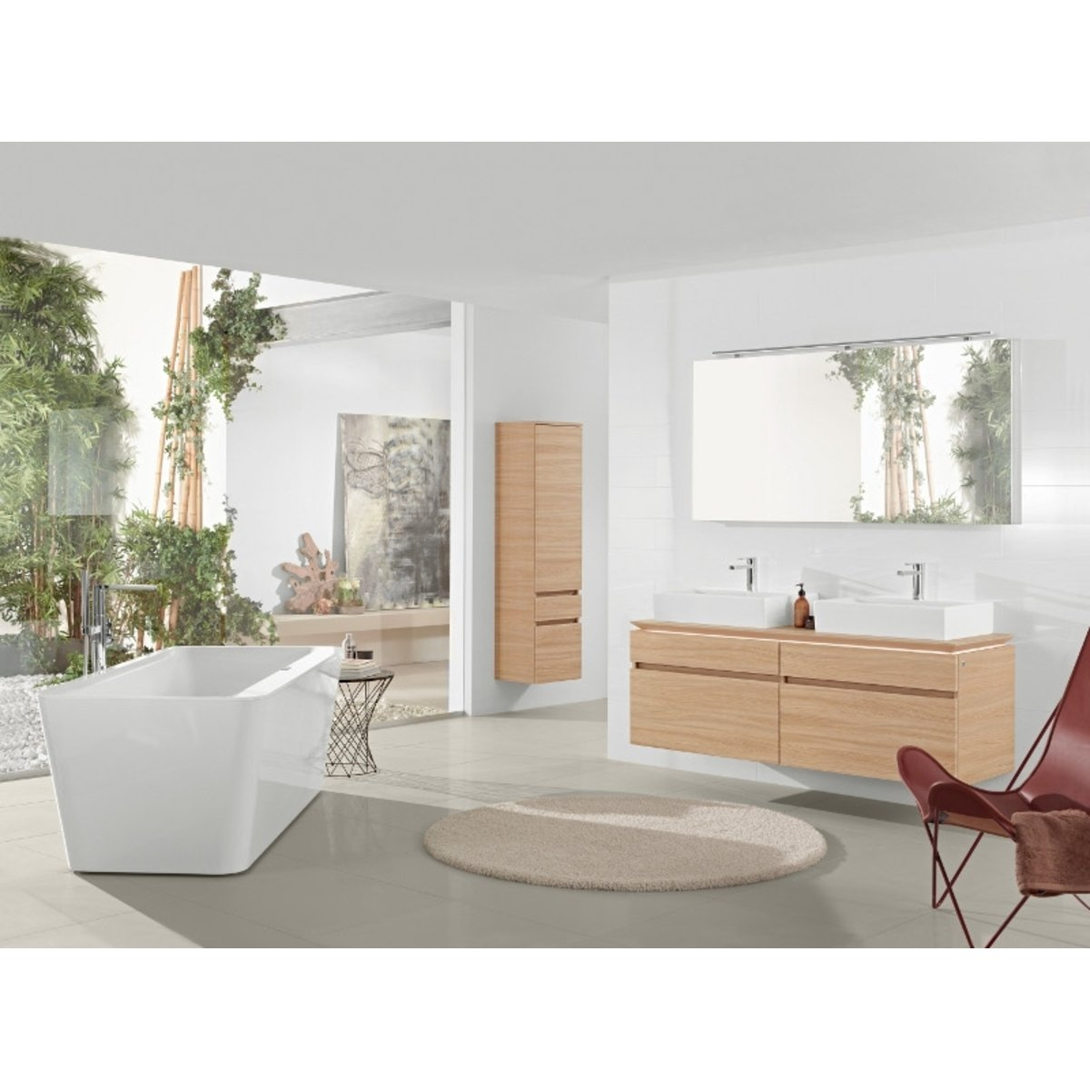 villeroy et boch squaro edge 12 baignoire lot ovale avec. Black Bedroom Furniture Sets. Home Design Ideas